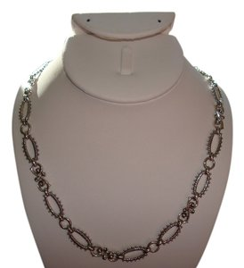 "Barbara Bixby Barbara Bixby 20"" Sterling Silver and 18K Yellow Gold, Bold Link Necklace w/ Toggle Clasp - J155141"