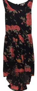 Charlotte Russe short dress black, coral floral, pink floral on Tradesy