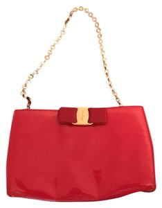 Salvatore Ferragamo Patent Leather Red Clutch