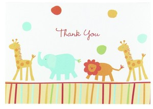 Jungle Animals Thank You Cards 25 Count For Cute Theme Wedding/Shower