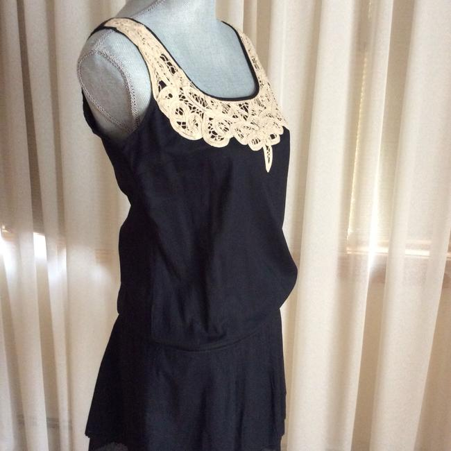 10ffb68e5b4 Juicy Couture short dress Black with beige lace trim on Tradesy Image 2