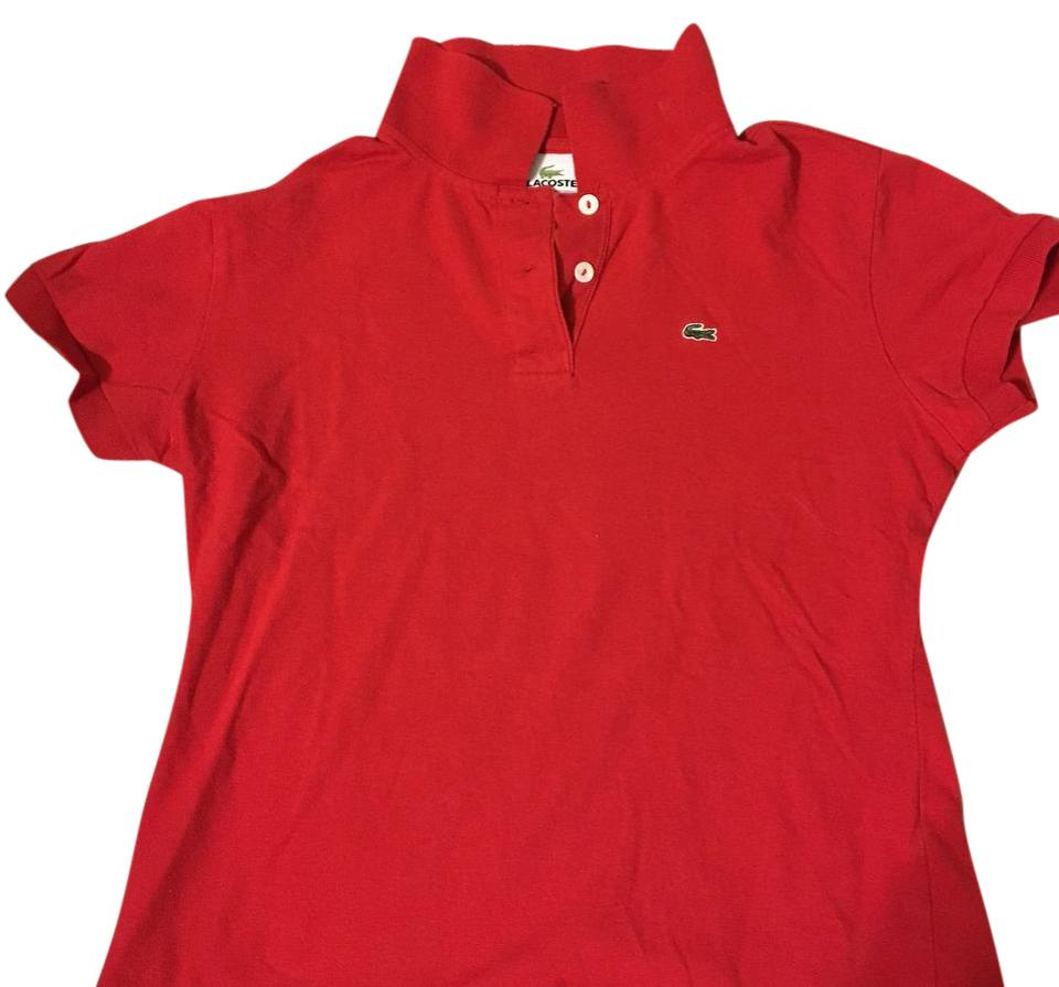 Lacoste Red Polo Tee Shirt Size 8 M Tradesy