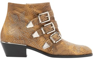Chlo Chloe Susanna Studded Ankle Brown Boots