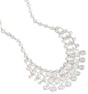 J.Crew Cascade Crystal Bauble Necklace