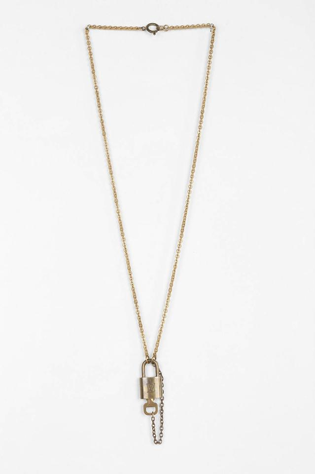 Louis Vuitton Lock With Chain Necklace 55 Off Retail