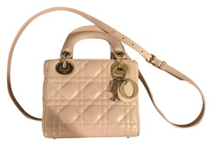 Dior Leather Lady Structured Cross Body Bag
