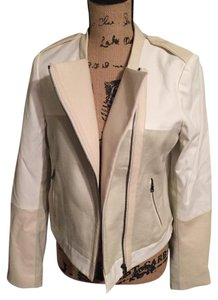 Ann Taylor Taupe/Beige Leather Jacket