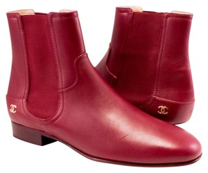 Chanel Chelsea 42 Burgundy Boots