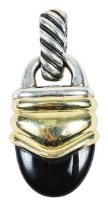 David Yurman David Yurman 14K Yellow Gold Sterling Silver Black Onyx Pendant