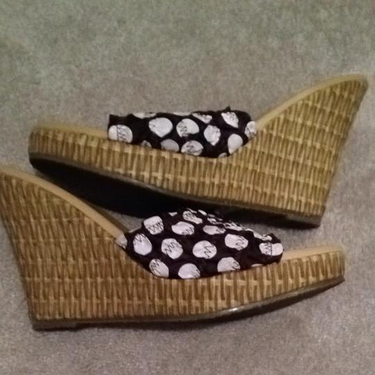 Restricted Chocolate Brown And White Wedges