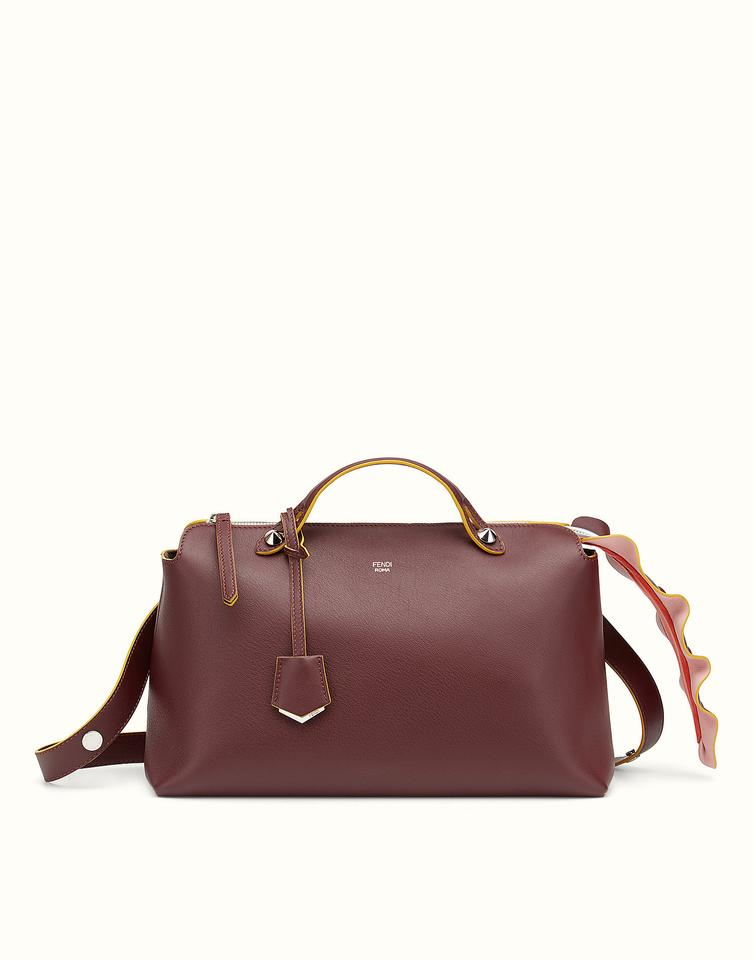 873c5bce32 Fendi Large By The Way Boston Bordeaux Leather Shoulder Bag - Tradesy