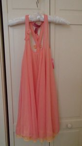Betsey Johnson Pink and Orange Intimates Night Gown with Bow Detail