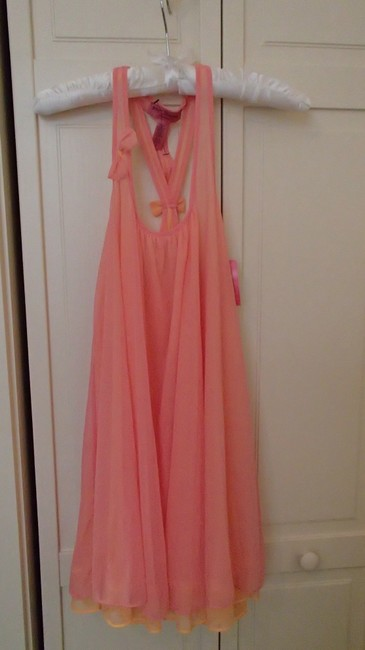 Item - Pink and Orange Intimates Night Gown with Bow Detail