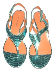 Via Spiga Wedge Blue Sandals
