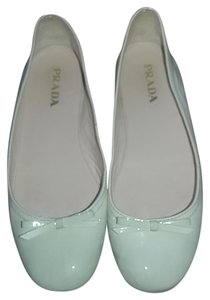 Prada Light blue and cream color Flats