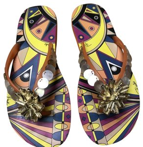 Emilio Pucci orange Sandals