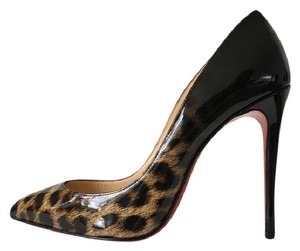 Christian Louboutin Ombre Leopard Degrade Brown So Kate Black Pumps
