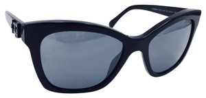 Chanel Signature Butterfly Spring Black Mirrored Sunglasses 5313 c.501/26