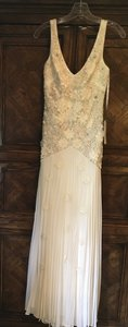 Sue Wong Butter Chantilly Lace Stunning Gown Ivory Color Formal Gown Feminine Wedding Dress Size 2 (XS)