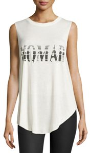 Haute Hippie Cross Back Tshirt Nomad Type Top off white