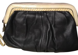 Nanette Lepore black with off white trin Clutch