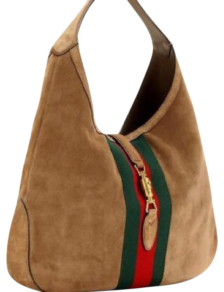 ea9cbc76d2e8 Gucci Jackie Soft Large Suede Brown Hobo Bag - Tradesy