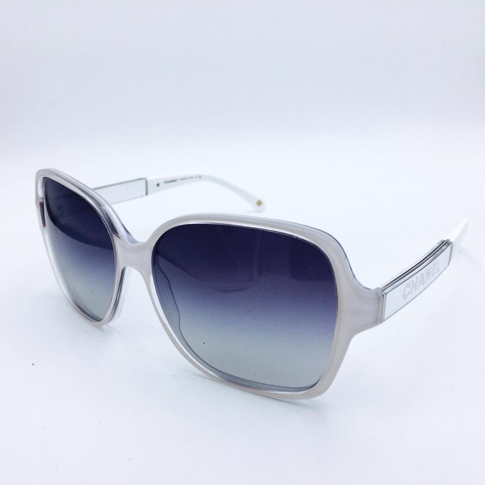 chanel collection miroir white square sunglasses 5168 c