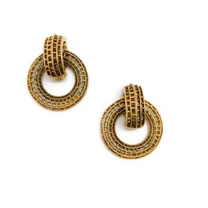 Chanel Vintage 1970's Gold Circle Earrings