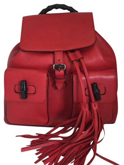 Gucci Red Backpack - Tradesy