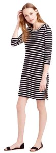 J.Crew short dress Black & White Striped Cotton on Tradesy