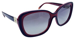 Tiffany & Co. Butterfly Square Gold Lock Key Burgundy Black Sunglasses TF 4091-B
