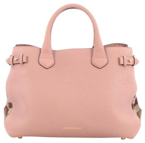 Burberry Leather Canvas Tote in pink
