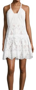 Lilly Pulitzer short dress White Lace Fit And Flare Halter Nwot on Tradesy