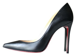 Christian Louboutin Louboutin Pigalle Red Bottoms Black Pumps