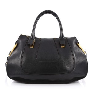 Chloe Leather Satchel in Black