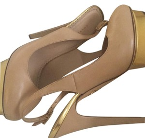 Charlotte Olympia nude/ gold Formal