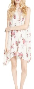Free People short dress ivory Feminine Floral Boho on Tradesy