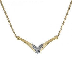 Avital & Co Jewelry 14k Yellow Gold 0.20 Carat Diamond Accent Necklace
