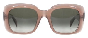 Cline NEW Celine 41044/S TV Screen Pink Taupe Rectangle Sunglasses