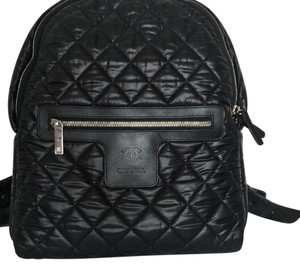 31a7d17b6d77 Chanel Cocoon Backpack Quilted 2015 Fall Collection Black Nylon Backpack