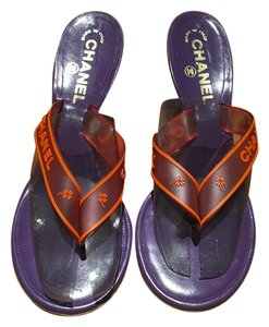 Chanel Purple and Orange Pumps