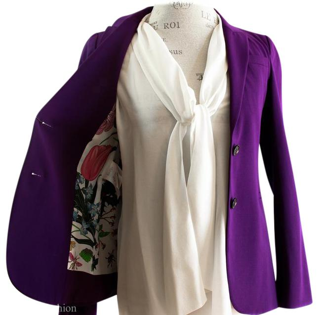 Item - Purple 362050 Wool Blend Blazer with Flora Lining 36g/0us Jacket Size 0 (XS)