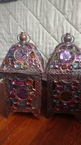 Bohemian Glam Jeweled Lanterns