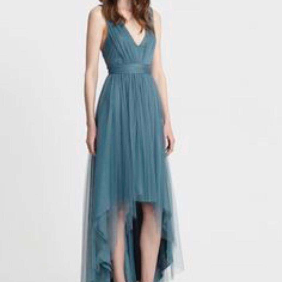 Monique Lhuillier Vintage Teal Tulle 450392 Feminine Bridesmaid/Mob ...
