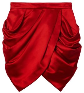 Balmain x H&M Mini Skirt Red