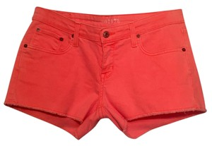 Big Star Cut Off Shorts Coral - neon