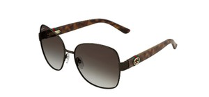 Gucci NEW GG4242/S Gucci Oversized Brown Metal Round Sunglasses