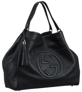 f753db85338c9 Added to Shopping Bag. Gucci Hobo Bag. Gucci Soho Large Black Leather ...
