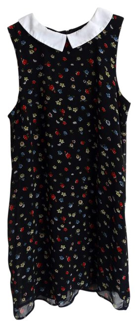 Item - Black Urban Outfitters Multi Floral Short Casual Dress Size 8 (M)