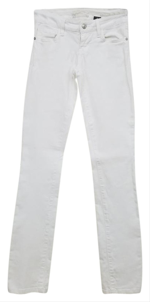 714e019365f696 Guess White Light Wash Out Skinny Jeans Size 24 (0, XS) - Tradesy